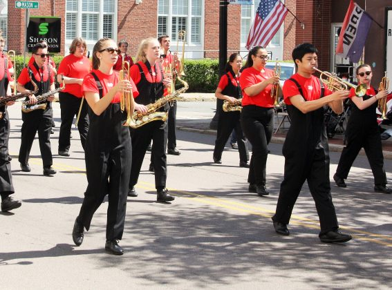 high school's marching band