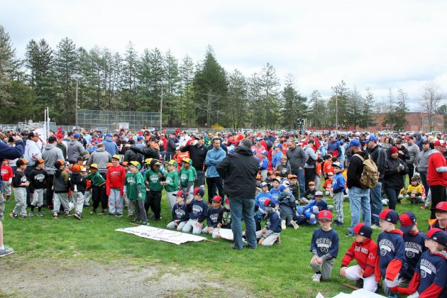 Mason Field was packed with Little North Attleborough League players