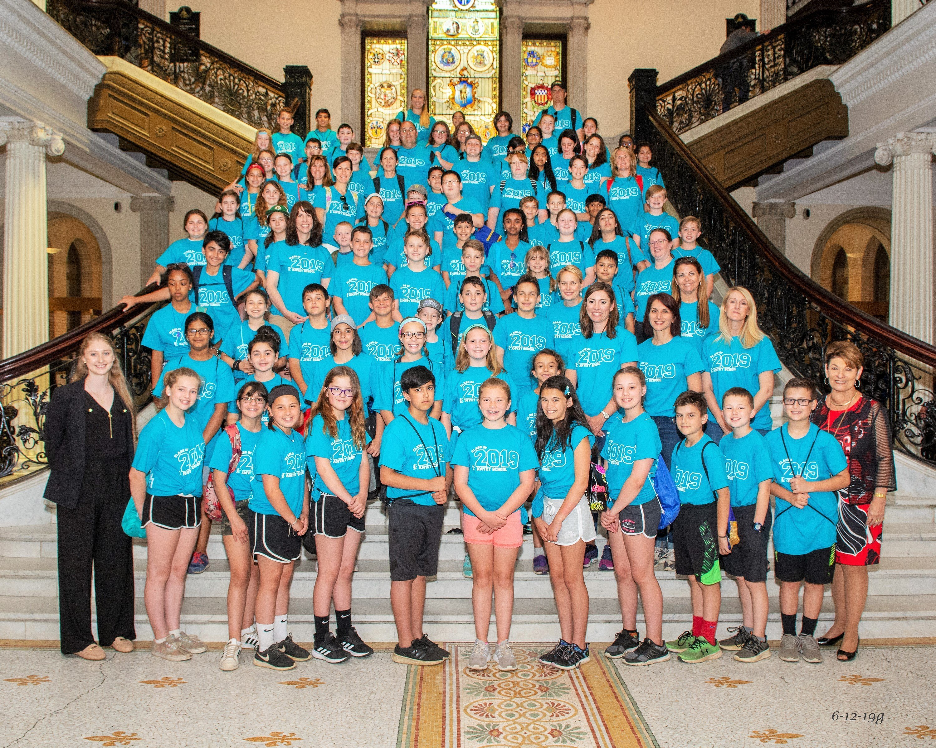 Amvet Boulevard students visit the State House