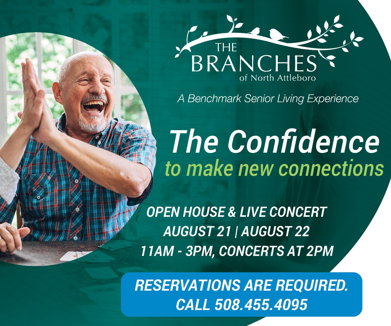 The branches open house and live concert august 21st and 22nd